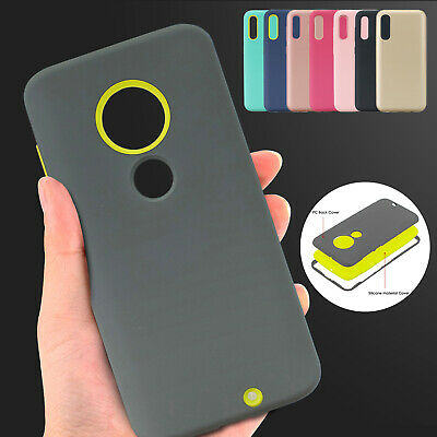 For Motorola Moto G7 Power Case Shockproof Hybrid Silicone TPU Bumper Thin Cover