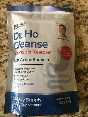 Dr. Ho Cleanse & Restore Triple Action Formula 9.5oz NEW 30 Day Supply! Exp 2020