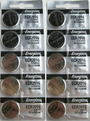 Lot of 10 PC ENERGIZER CR2016 WATCH BATTERIES 3V LITHIUM ECR 2016 ECR2016 NEW
