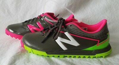 ba66d0928a949 New Balance Furon NEW Youth FDTMP3 Gray w/Pink Green Turf Soccer Shoes Size  6