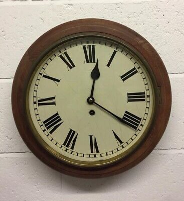 Antique Victorian/early 20th Century School Or Station Wall Clock
