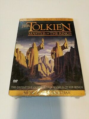 J.R.R. Tolkien: Master of the Rings: Special Edition DVD CD Booklet- NEW SEALED