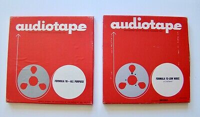"""Audio Devices Audiotape Magnetic Recording Tape 10"""" - Lot of 2 (Used)"""