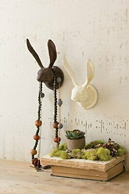 Cast Iron Rabbit Wall Hook (Antique White)