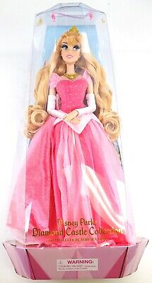 """NEW Disney Parks Diamond Castle Collection 16"""" Limited Edition Aurora Doll"""