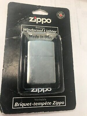 Zippo Windproof Satin Finish Chrome Lighter New In Box