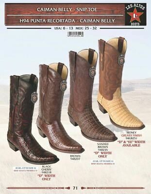 98590c1523b LOS ALTOS MEN'S Snip Toe Leather Exotic Caiman Belly Cowboy Western ...