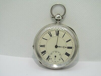 1876 pocket watch solid silver very good condition not working