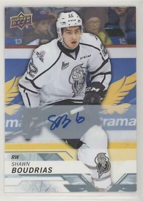 2018-19 Upper Deck CHL Autograph SHAWN BOUDRIAS #44