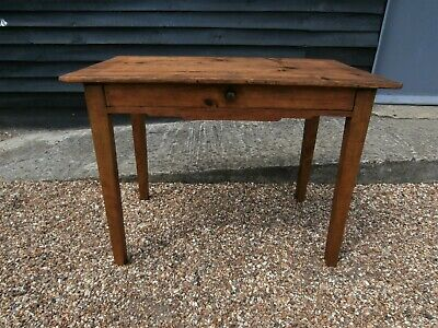 LOVELY 19th CENTURY PINE & ASH TABLE DESK WITH SCRIBED DESIGN - WE CAN DELIVER