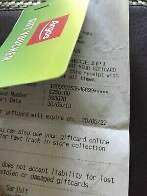 £250 Argos Gift Card Shopping Voucher