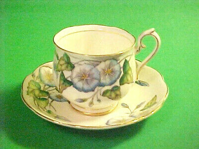 ROYAL ALBERT CUP and SAUCER ~ FLOWER of the MONTH SERIES ~ MORNING GLORY