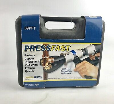 Apolloxpress Pressfast Copper Press an PEX Crimping Tool Brand New in Box 69PFT