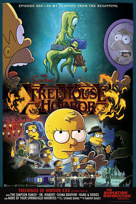 "The Simpsons Poster 48x32"" 40x27"" 36x24"" Stranger Things Episode 666 Print Silk"