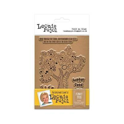 Crafters Companion Leonie Pujol ~ A6 Unmounted Rubber Stamps ~ Funky Tree