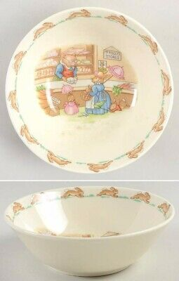 "*Vintage Royal Doulton England Bunnykins Bone China ""Piggly's Store"" Cereal Bowl"