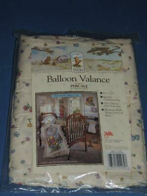 Disney Classic Pooh And His Hunny Pots Balloon Valance Ecru  82 X 22 Butterfly
