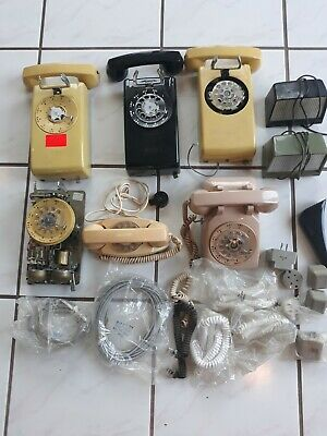 XL LOT-Vintage Western Electric Bell System 4-554 Rotary Wall Telephone & more!!