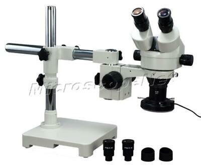2.1X-90X Zoom Stereo Single-bar Boom Stand Microscope +144 LED Ring Light