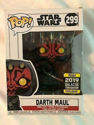 Funko POP Star Wars 299 2019 Galactic Convention Exclusive Darth Maul