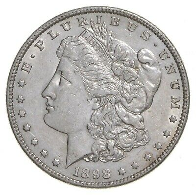 W@W Early 1898 Morgan Silver Dollar - 90% US Coin - Nice Coin *006