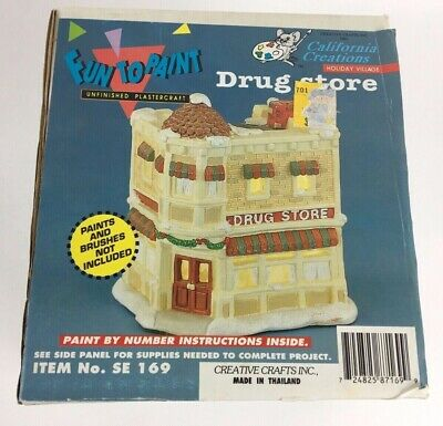 California Creations Fun To Paint Drug Store Unfinished Plastercraft With Box