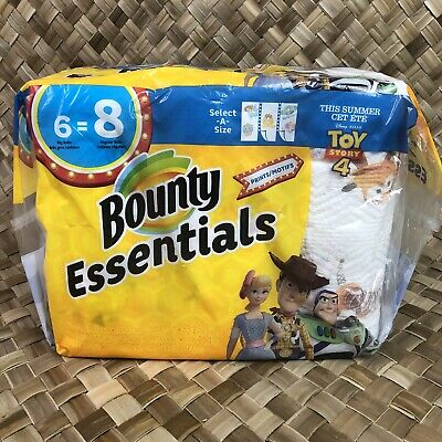 Toy Story 4 Bounty Essentials Select-A-Size Paper Towels 6 Roll = 8 New