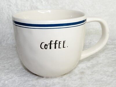 Rae Dunn Artisan Collection by Magenta Coffee Mug Blue Stripe Diner Style Cup