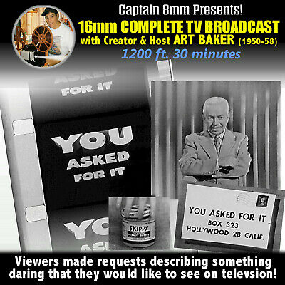 YOU ASKED FOR IT - 1950'S TV Show 30 Minute Broadcast / Host Art Baker
