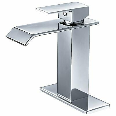 BWE 6004-2 Waterfall Spout Single Handle One Hole Commercial Bathroom Sink