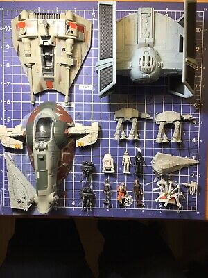 Star Wars Micro Machines Action Fleet Lot Slave One Vaders Tie Figures And More
