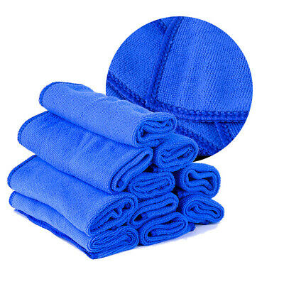 10Pc 30x30CM Microfibre Cleaner Car Detailing Washing Cleaning Soft Cloths Towel