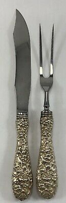 Antique Stieff Co. Rose Pattern Sterling Silver Fork And Knife Set