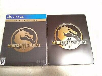 Mortal Kombat 11 -- Premium Edition PS4 (Sony PlayStation 4, 2019) PLAYED ONCE!