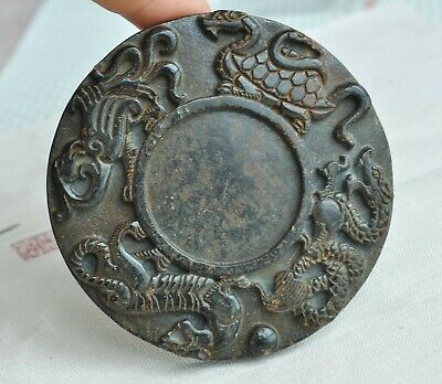 Chinese ancient old hard jade hand-carved pendant necklace ~Mythical Animals M53