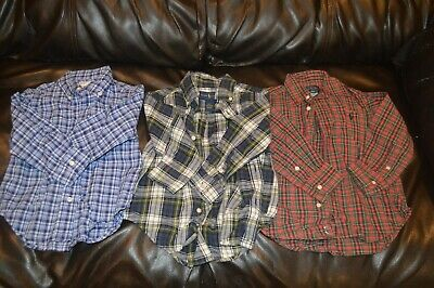 Lot Of 3 Boys Toddlers Polo Ralph Lauren Button Up Dress Shirts 2T 24M