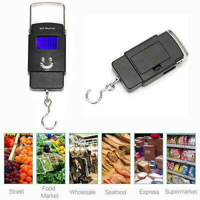110lb/50kg Digital Luggage Fishing Scale LCD Luggage Postal Weight Hanging Hook