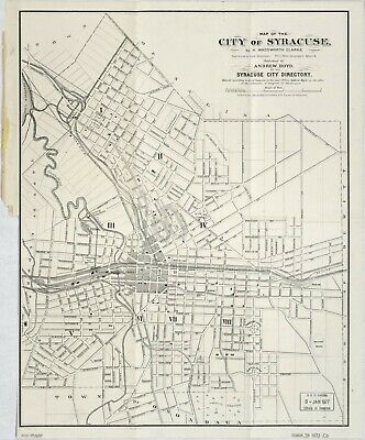 "20"" x 24"" 1873 1873 Map of Map of The City of Syracuse New York"