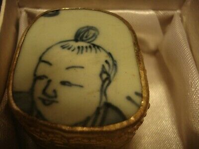 Chinese antique fragment porcelain jewellery box