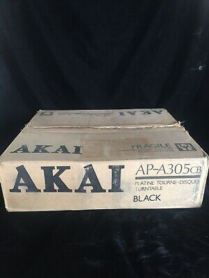 Akai AP-A305 CB Semi Automatic Turntable Record Player NOS