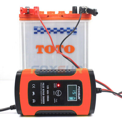 FOXSUR Automatic Charging Protects 12V 6A UK Fully Automatic Car Battery Charger
