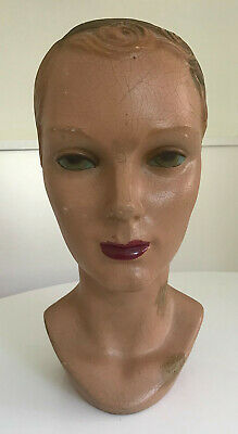 1930's Original Vintage Merchandising Women's Mannequin Display Head