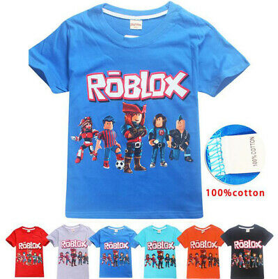ROBLOX Gamers Kids Boys Girls Game Loose Cotton Sleeved T-Shirt Short Tops 2-11Y