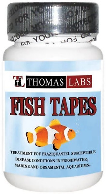 Fish Tape worms Praziquantel 34mg 30 ct Pharmacy grade Exp 0