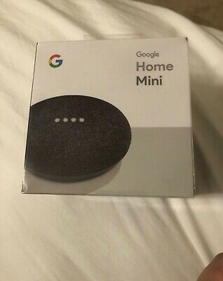 Google Home Mini Smart Assistant - Charcoal