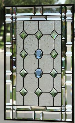 "•In Perfect Harmony • Beveled Stained Glass Window Panel • 24 ½"" x 18 ½"" *"