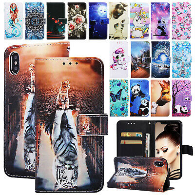 Fr iPhone XS Max 6s 7 8 Plus Case Magnetic Flip Leather Strap Stand Wallet Cover