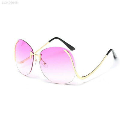 318E Oversized Optics Sunglass Women Fashion Rimless Girl