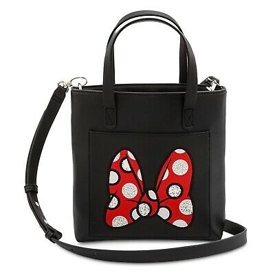 NWT Disney Parks Exclusive Minnie Mouse Bow Crossbody Bag