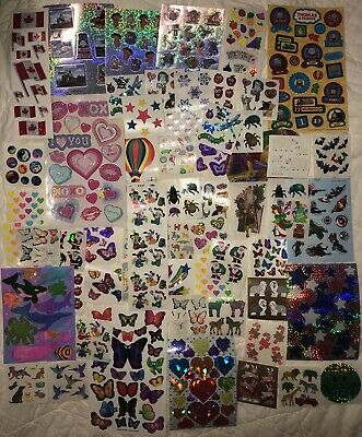 Sandylion Stickers Assorted Lot Vintage Rare Brown Backing Plus Fuzzy